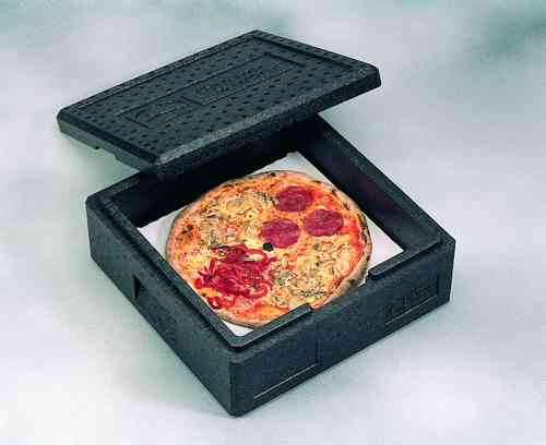 Pizzabox Transportbox schwarz EPP, Thermohauser